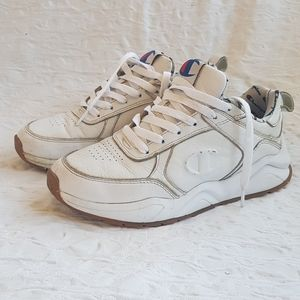 Champion white 93 eighteen C Logo sneakers
